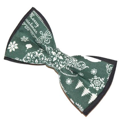 Papion verde Crăciun Merry Christmas