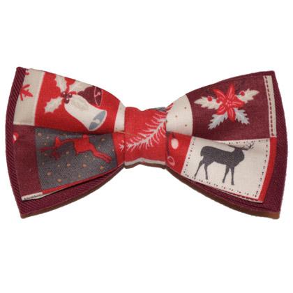 "Papion roșu de Crăciun ""Christmas Spirit"""