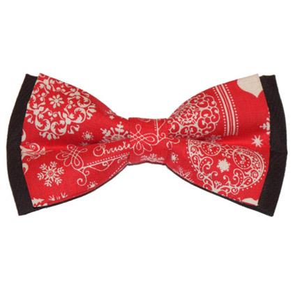Papion roșu de Crăciun Merry Christmas