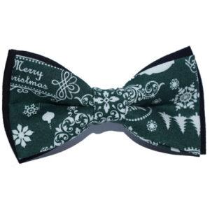 Papion verde de Crăciun Merry Christmas